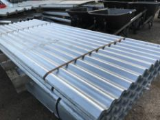 Pack of 25no. 10ft galvanised corrugated roof sheets