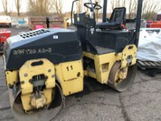 BOMAG BW120AD-3 DD ROLLER YEAR 2003 SN:101170519220 WHEN TESTED WAS SEEN TO DRIVE AND VIBRATE..SEE