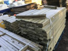 2 LARGE PALLETS OF 1.75M X 10CM FENCING TIMBER SLATS