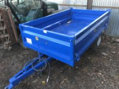 Marshall 1.5tonne hydraulic tipping trailer,