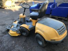 STIGA PARK DIESEL OUTFRONT MOWER WITH COMBI PRO 125 DECK, 400 HRS APPROX. WHEN TESTED WAS SEEN TO