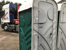 GREEN COLOURED PORTABLE EVENTS/SITE TOILET