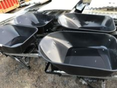 4 x Heavy duty builder's wheelbarrows