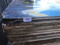 44 X PRE USED TIMBER PLYWOOD AND OTHER SHEETS NO VAT ON HAMMER PRICE