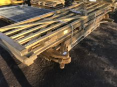 8NO ASSORTED WOODEN FIELD GATES 1.5-3.6 METRES...SOLD AS ONE LOT