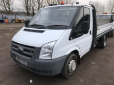 FORD TRANSIT FLAT BED DROP SIDE TRUCK WITH TAIL LIFT REG:BU07 FVG DIRECT EX COMPANY AS PART OF THEIR