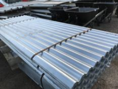 Pack of 25no. 8ft galvanised corrugated roof sheets