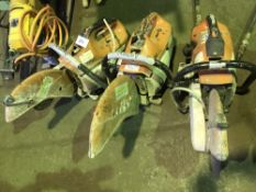 3 X STIHL TS410 PETROL SAWS FOR SPARES/REPAIR