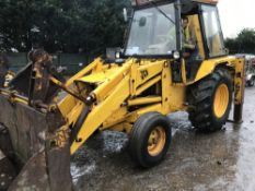 JCB 3CX 2wd backhoe loader c/w 4-in-1 bucket and extending backhoe, reg. B608 TKO, SN: 3CX308776/P/S