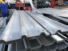 Pack of 25no. 10ft galvanised box profile roof sheets