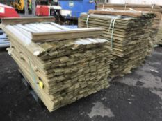 3 X LARGE PALLETS OF SHIPLAP TIMBERS 2 @ 1.73M 1 @ 1.11M 10CM WIDTH
