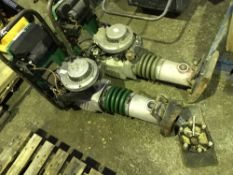 2NO GREEN TOP TRENCH COMPACTORS C/W SPARE FOOT