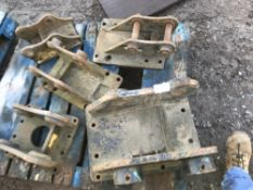 Pallet of 5no. breaker headstocks/brackets
