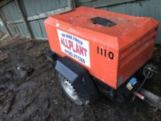 INGERSOLL RAND 720 SINGLE TOOL COMPRESSOR SN: 121152 1372 REC HRS WHEN TESTED WAS SEEN TO RUN AND