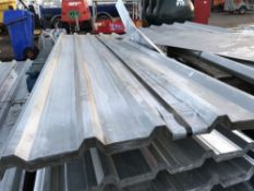 Pack of 25no. 12ft galvanised box profile roof sheets