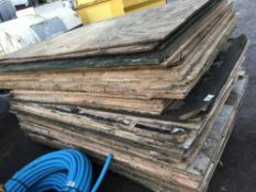 APPROX 60NO SHEETS OF PRE USED PLYWOOD AND OTHER BOARDS NO VAT ON HAMMER PRICE