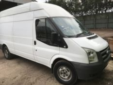 TRANSIT HIGH TOP PANEL VAN, REG: HV10 VEK DIRECT FROM COMPANY AS PART OF A FLEET UPDATE. WITH V5