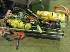 3 X DIAMOND DRILL UNITS C/W 2 X STANDS, CONDITION UNKNOWN