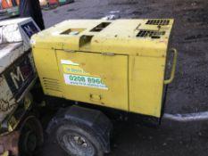 Arcgen Weldmaker 300 towed welder, yr2007 SN: 1301679 WHEN TESTED WAS SEEN TO RUN AND WELD