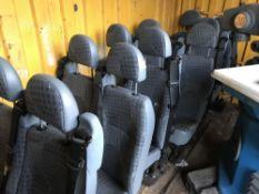 SET OF TRANSIT MINIBUS SEATS NO VAT ON HAMMER PRICE