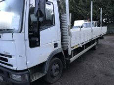 FORD EUROCARGO 22FT FLAT BED 7.5T, REG: RK03 CZR TEST TO JANUARY 2019 WHEN TESTED WAS SEEN TO DRIVE,