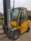 JUNGHINRICH DFG430 3 TONNE RTED DIESEL FORKLIFT TRUCK WITH PERKINS ENGINE, YEAR 2005, FULL CAB, SIDE
