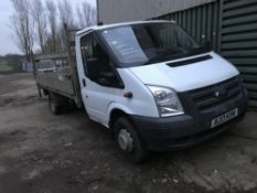 FORD TRANSIT DROP SIDE FLAT BED TRUCK WITH TAIL LIFT, REG:RJ13 KXN 147,952 REC MILES DIRECT EX