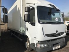 Renault Midlum 7500Kg box lorry with tail lift, reg. EU12 CKC, WITH V5. TEST TO 30.6.2019. Direct ex
