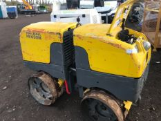 WACKER NEUSON TRENCH ROLLER WITH REMOTE CONTROL 507 REC HRS, YEAR 2014. PN:8252FC WHEN TESTED WAS
