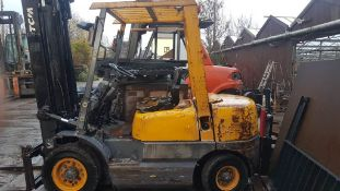 TCM FD 25 DIESEL FORKLIFT TRUCK WITH 3 STAGE MAST AND SIE SHIFT, 2.5 TONNE RATED VENDORS COMMENTS: