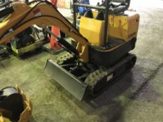 RHINOCEROS XN08 MINI DIGGER 1HR REC HOURS 2 BUCKETS SN:18C070812 WHEN TESTED WAS SEEN TO DRIVE, SLEW