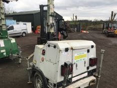 SMC TL90 TOWED LIGHTING TOWER, YEAR 2006 BUILD PN:6228FC WHEN TESTED WAS SEEN TO RUN AND MAKE LIGHT,