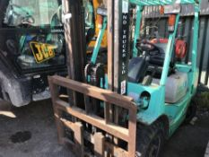 Mitsubish FG25 gas industrial forklift SN:EF17B60855 ENGINES TURNS OVER BUT NOT STARTING..SOLD AS