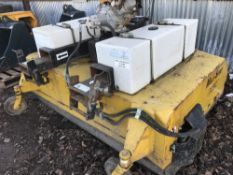Petrol engined multi sweep forklift brush unit, 6ft approx.