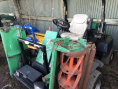 Ransomes Parkway triple ride on mower, 3870 rec.hrs. WHEN TESTED WAS SEEN TO RUN, DRIVE AND BLADES