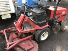 GROUNDMASTER 220-D 2WD OUT FRONT ROTARY MOWER. WHEN TESTED WAS SEEN TO DRIVE, STEER AND BLADES
