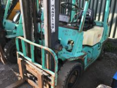 PUMA/YANG DIESEL 2 TONNE FORKLIFT YEAR 1999 SN:3T27877 ….WHEN TESTED WAS SEEN TO DRIVE, STEER AND