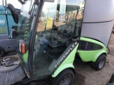 POWERFLEX EGHOLM 2200 CABBED SWEEPER UNIT. YEAR 2009. NO KEY....SOURCED FROM LARGE CONTRACT CLEANING