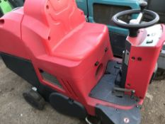 COMOC BATTERY POWERED RIDE ON SWEEPER...SOURCED FROM LARGE CONTRACT CLEANING COMPANY.....THIS ITEM