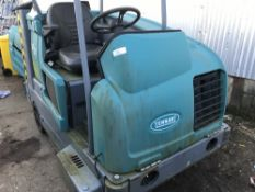 TENNANT M20 RIDE ON SWEEPER WITH CANOPY, PETROL ENGINED, YEAR 2007...SOURCED FROM LARGE CONTRACT