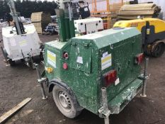 SMC TL90 TOWED LIGHTING TOWER, YEAR 2007 BUILD PSN:T90077397 WHEN TESTED WAS SEEN TO RUN AND MAKE