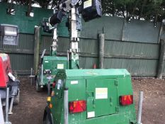 SMC TL90 TOWED LIGTING TOWER, YEAR 2007 PN:7687FC WHEN TESTED WAS SEEN TO RUN AND MAKE LIGHT, AS