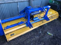 Bomford hydraulic offset flail mower, yr2018 build