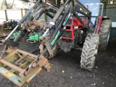 CASE TRACTOR WITH FOREND LOADER WHEN TESTED WAS SEEN TO RUN, DRIVE, STEER AND BRAKE…LOADER LIFTED…