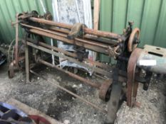 CYLINDER MOWER BLADE SHARPENER AND BLADES ETC... SOLD UNDER THE AUCTIONEERS MARGIN SCHEME…NO VAT