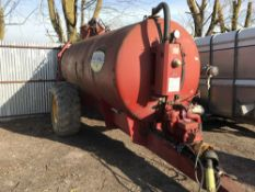 Marshall single axled vacuum tanker c/w top fill. Direct from completion of wheel wash emptying