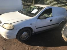 ASTRA PANEL VAN, WHITE REG:YJ02 BKT, WITH V5, TEST TO 25.9.19. DIRECT EX LOCAL COMPANY, PREVIOUS