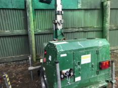 SMC TL90 TOWED LIGTING TOWER, YEAR 2007 PN:7686FC WHEN TESTED WAS SEEN TO RUN AND MAKE LIGHT, AS