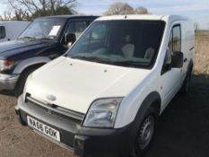 FORD TRANSIT CONNECT PANEL VAN REG:NA56 GOK 100,247 REC MILES WHEN TESTED WAS SEEN TO RUN, DRIVE,