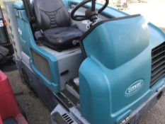 TENNANT M20EC H20 PETROL ENGINED RIDE ON SWEEPER, YEAR 2012...SOURCED FROM LARGE CONTRACT CLEANING